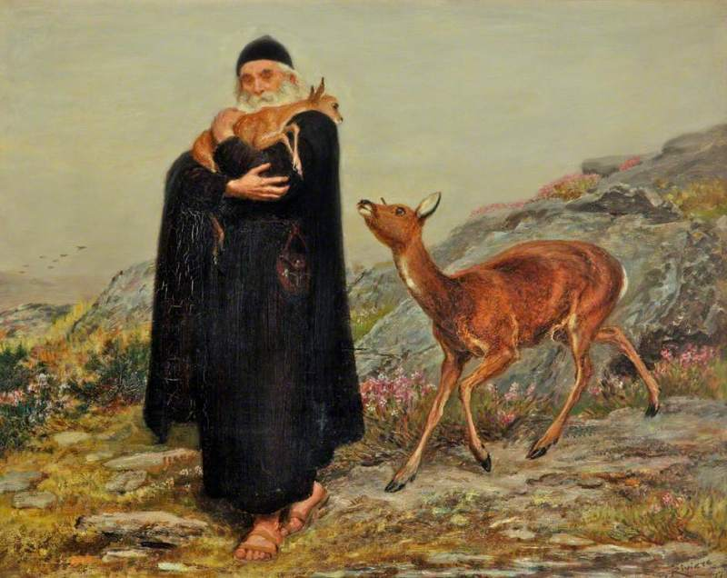 A Legend of St. Patrick, by Briton Riviere, c. 1877. Sudley House, Liverpool, United Kingdom. Via IllustratedPrayer.com