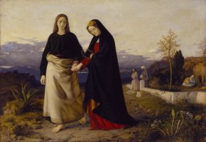 St. John Leading Home his Adopted Mother, by William Dyce, c. 1842-60. Tate Museum, London, United Kingdom. Via IllustratedPrayer.com