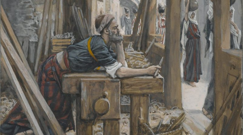 The Anxiety of St. Joseph, by James Tissot, c. 1886-94. Brooklyn Museum, New York, New York, United States. Via IllustratedPrayer.com