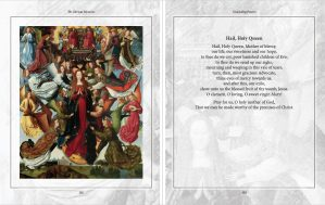 An excerpt from the Concluding Prayers chapter, featuring the Hail Holy Queen prayer. From The Glorious Mysteries, by Karina Tabone. Via IllustratedPrayer.com