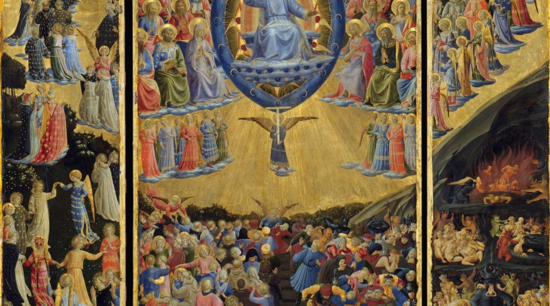 The Last Judgment, by Fra Angelico, c. 1450. Gemäldegalerie, Berlin, Germany. Via IllustratedPrayer.com
