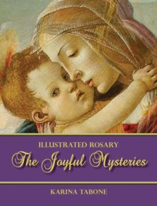 The Joyful Mysteries, by Karina Tabone. Via IllustratedPrayer.com