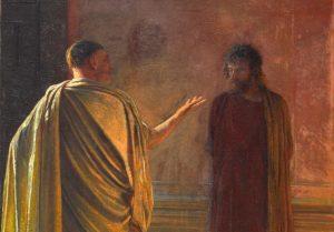 """What is truth?"" crop, by Nikolay Nikolayevich, c. 1890. Tretyakov Gallery, Moscow, Russia. Via IllustratedPrayer.com"