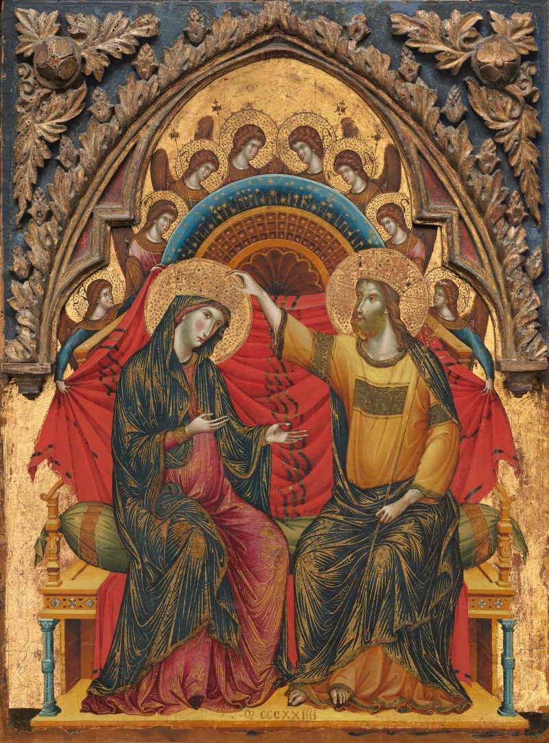 The Coronation of the Virgin, by Master of the Washington Coronation, c. 1324. National Gallery of Art, Washington, D.C., United States. Via IllustratedPrayer.com
