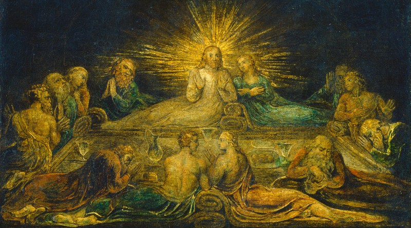 The Last Supper, by William Blake, c. 1799. National Gallery of Art, Washington, D.C., United States. Via IllustratedPrayer.com