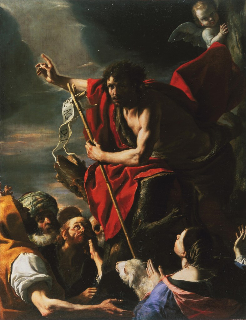 St. John the Baptist Preaching, by Mattia Preti, c. 1665. Legion of Honor, San Francisco, California, United States. Via IllustratedPrayer.com