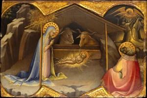 The Nativity, by Lorenzo Monaco, c. 1406-10. Metropolitan Museum of Art, New York, New York, United States. Via IllustratedPrayer.com