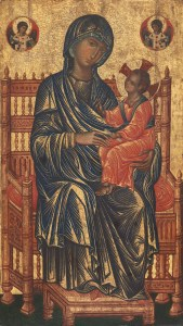 Madonna and Child Enthroned, c. 1250-75. National Gallery of Art, Washington, D.C., United States. Via IllustratedPrayer.com