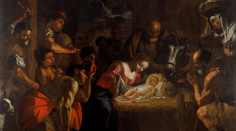 The Adoration of the Shepherds, by Mattia Preti, c. 1660-99. Walker Art Gallery, Liverpool, United Kingdom. Via IllustratedPrayer.com
