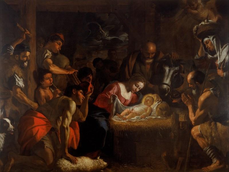 The Adoration of the Shepherds, by Mattia Preti, c. 1660-99. Walker Art Gallery, Liverpool, United Kingdom. Via IllustratedPrayer.com