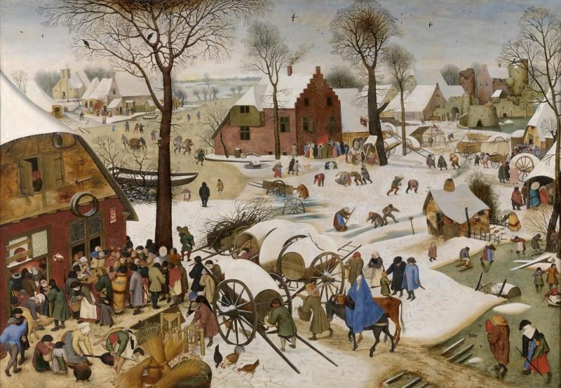 The Census at Bethlehem, by Pieter Brugel the Elder, c. 1566. Royal Museums of Fine Arts, Brussels, Belgium. Via IllustratedPrayer.com