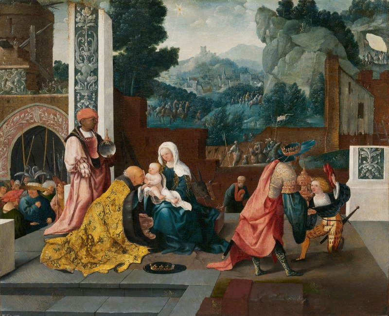 Adoration of the Magi, by Jan van Scorel, c. 1519. Art Institute of Chicago, Chicago, Illinois, United States.
