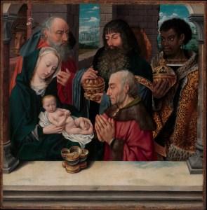 Adoration of the Magi, by Hugo van der Goes, c. 15th century. Metropolitan Museum of Art, New York, New York, United States. Via IllustratedPrayer.com