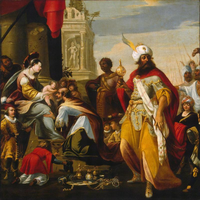 Adoration of the Magi, by Georges Lallemand, c. 1624. State Hermitage Museum, St. Petersburg, Russia. Via IllustratedPrayer.com