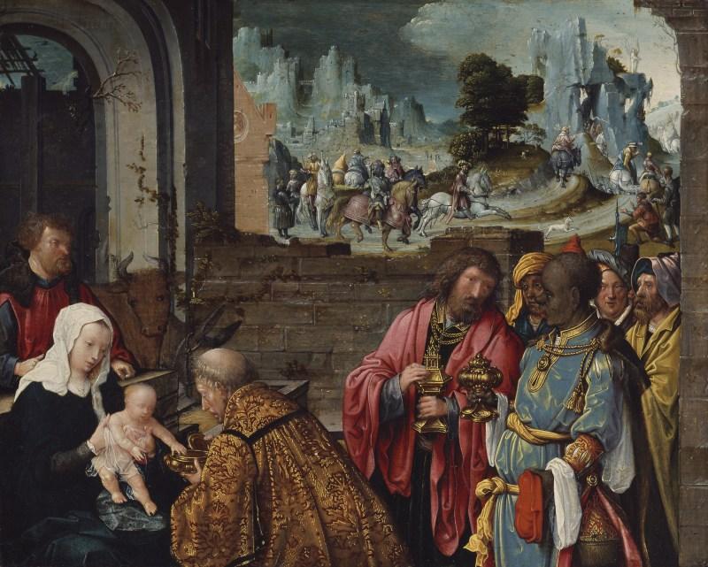 Adoration of the Magi, by Cornelis Engebrechtsz., c. 1505-15. Art Institute of Chicago, Chicago, Illinois, United States. Via IllustratedPrayer.com