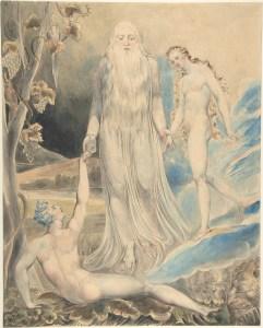 Angel of the Divine Presence Bringing Eve to Adam, by William Blake, c. 1803. Metropolitan Museum of Art, New York, New York, United States. Via IllustratedPrayer.com
