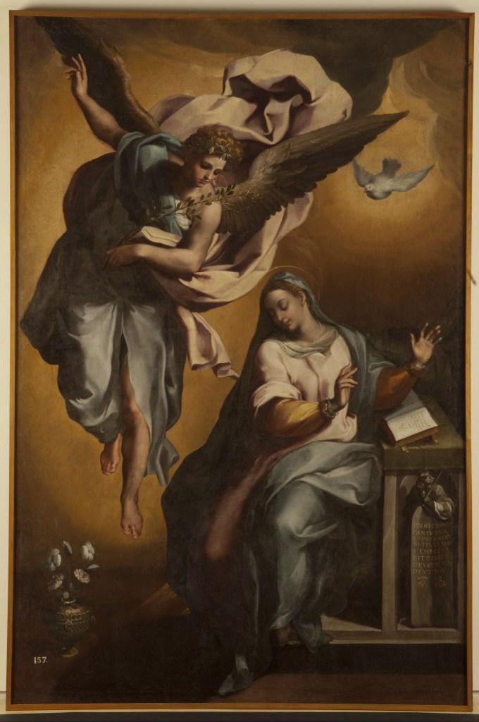 The Annunciation of the Virgin, by Gregorio Martínez, c. 16th century. National Sculpture Museum, Valladolid, Spain. Via IllustratedPrayer.com