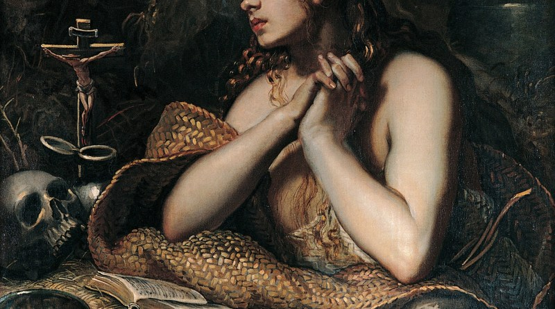Penitent Magdalene, by Domenico Tintoretto, c. 1598-1602. Capitoline Museums, Rome, Italy. Via IllustratedPrayer.com