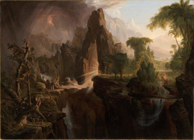 Expulsion of the Garden of Eden, by Thomas Cole, c. 1828. Museum of Fine Arts, Boston, Massachusetts, United States. Via IllustratedPrayer.com