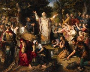 Saint Boniface Felling Donar's Oak, by Johann Michael Wittmer