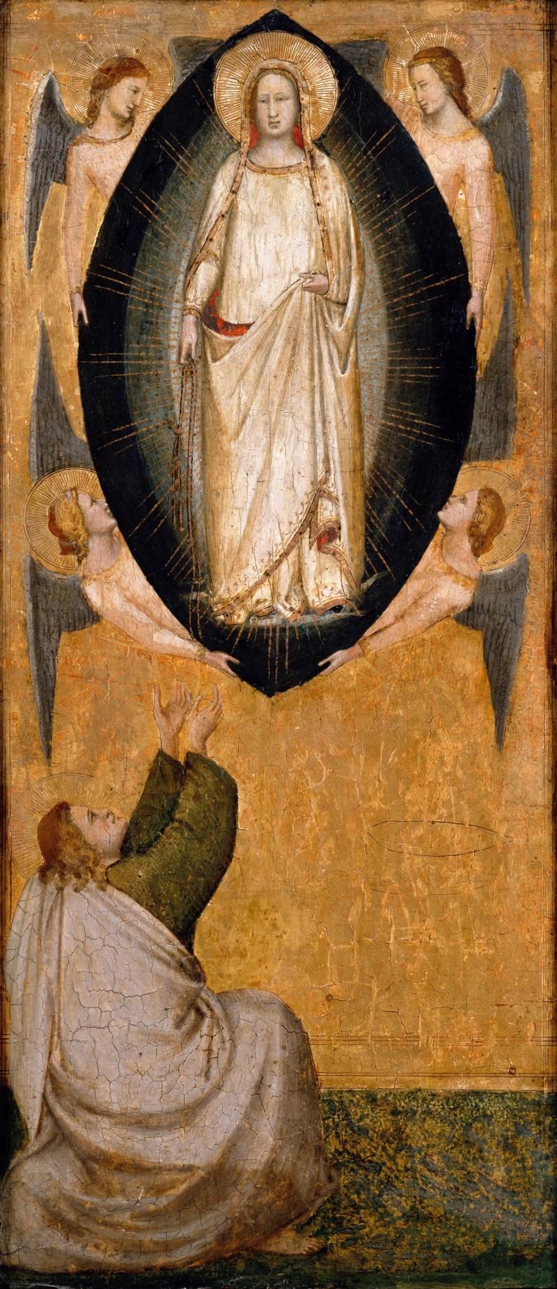 Descent of Mary's Girdle to the Apostle Thomas, by Maso di Banco