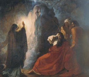 The Endorian Sorceress Causes the Shade of Samuel, by Dmitry Nikiforovich