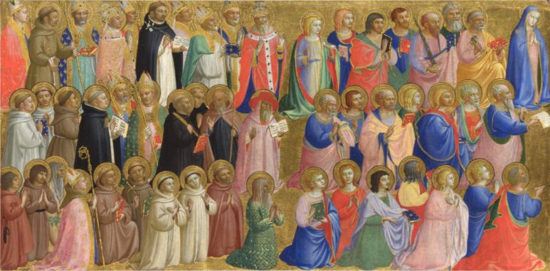 The Virgin Mary with the Apostles and Other Saints, by Fra Angelico