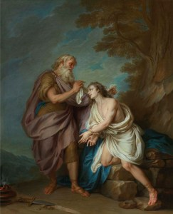Abraham Preparing to Sacrifice Isaac, by Charles-Antoine Coypel, c. 1736. Private collection.
