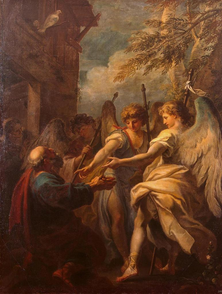Abraham and the Angels, by Sebastiano Ricci, c. 1695. Hermitage Museum, St. Petersburg, Russia.