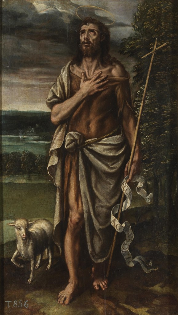Saint John the Baptist, by Alexandro Loarte, c. 1590s. Museo del Prado, Madrid, Spain.