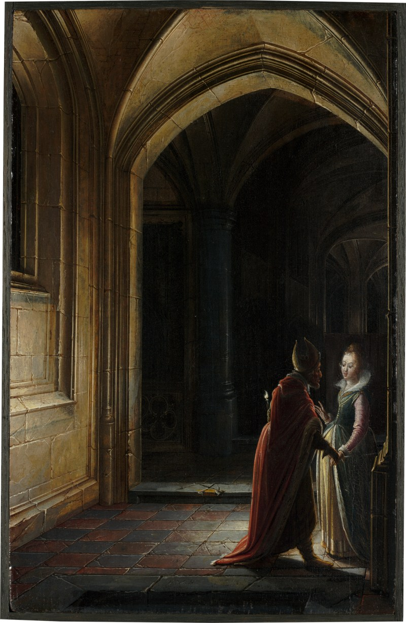 Esther and Mordecai, by Hendrick van Steenwijk the Younger, c. 1616. National Gallery of Art, Washington, D.C., United States.