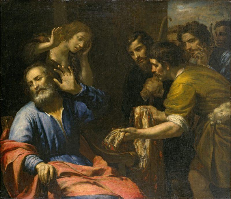 Joseph's Coat Brought to Jacob, by Domenico Fiasella, c. 1640. El Paso Museum of Art, El Paso, Texas, United States.