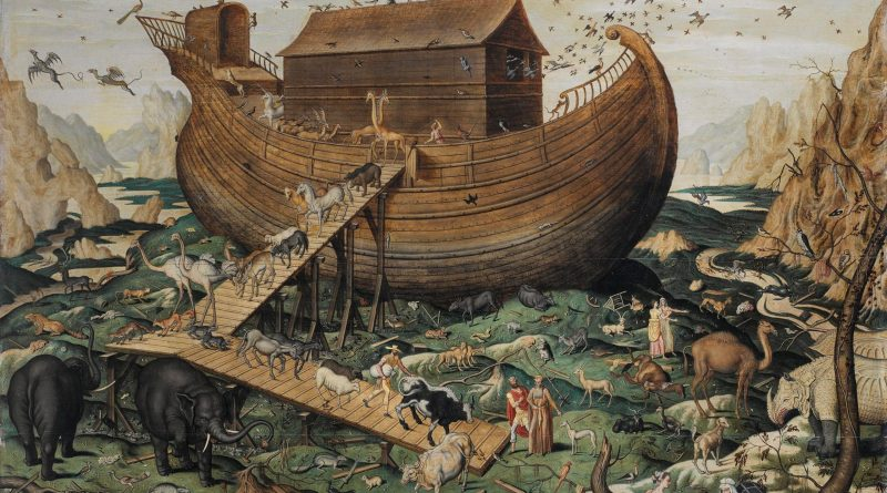 Noah's Ark on the Mount Arabat, by Simon de Myle, c. 1570. Private collection.