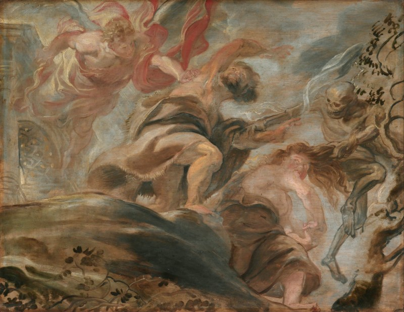 Expulsion from the Garden of Eden, by Peter Paul Rubens, c. 1620. National Gallery in Prague, Prague, Czech Republic.