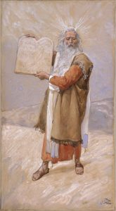 Moses and the Ten Commandments, by James Tissot, c. 1896-1902. Jewish Museum, New York, New York, United States.