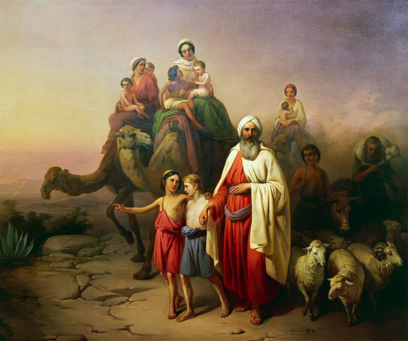 The Departure of Abraham, by Jozsef Molnar, c. 1850. Hungarian National Gallery, Budapest, Hungary.