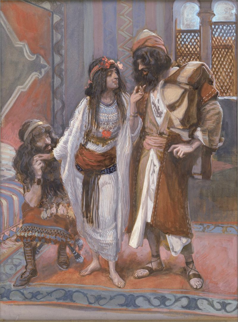 The Harlot of Jericho and the Two Spies, by James Tissot, c. 1896-1902. Jewish Museum, New York, New York, United States.