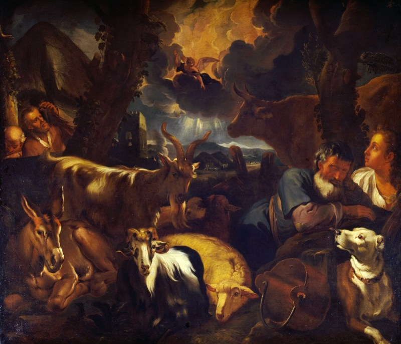 Annunciation to the Shepherds, by Pieter Mulier, c. 17th century. Private collection.