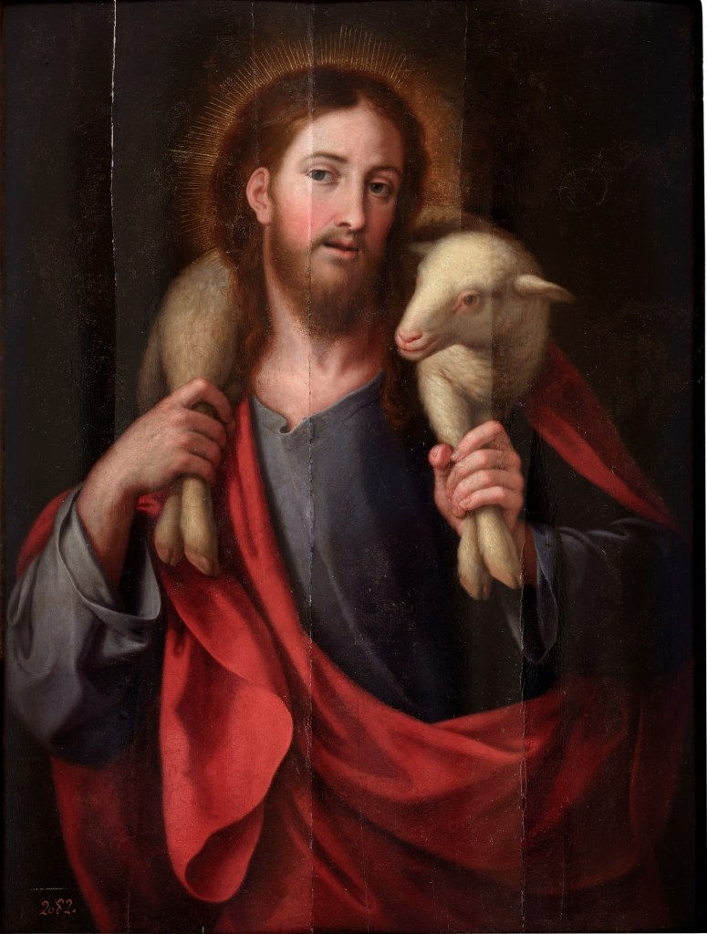 The Good Shepherd, by Jose Vergara, c. 18th century. Museo del Prado, Madrid, Spain.