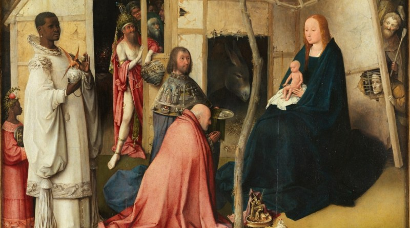 Detail of Adoration of the Magi, by Hieronymus Bosch, c. 1494. Museo del Prado, Madrid, Spain.