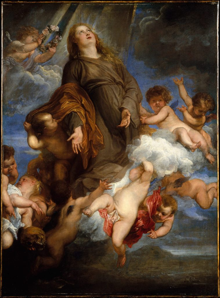 Saint Rosalie Interceding for the Plague-stricken of Palermo, by Anthony van Dyck, c. 1624. Metropolitan Museum of Art, New York, New York, United States.