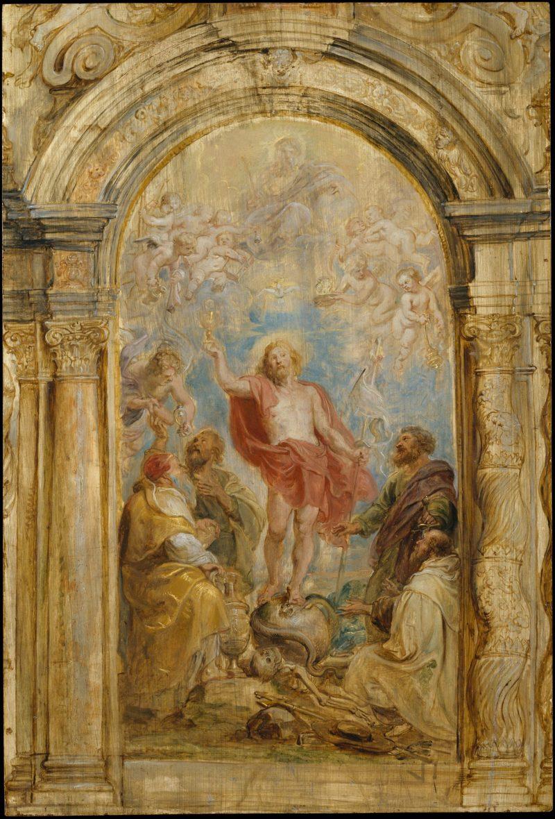 The Glorification of the Eucharist, by Peter Paul Ruben, c. 1630-32. Metropolitan Museum of Art, New York, New York, United States.