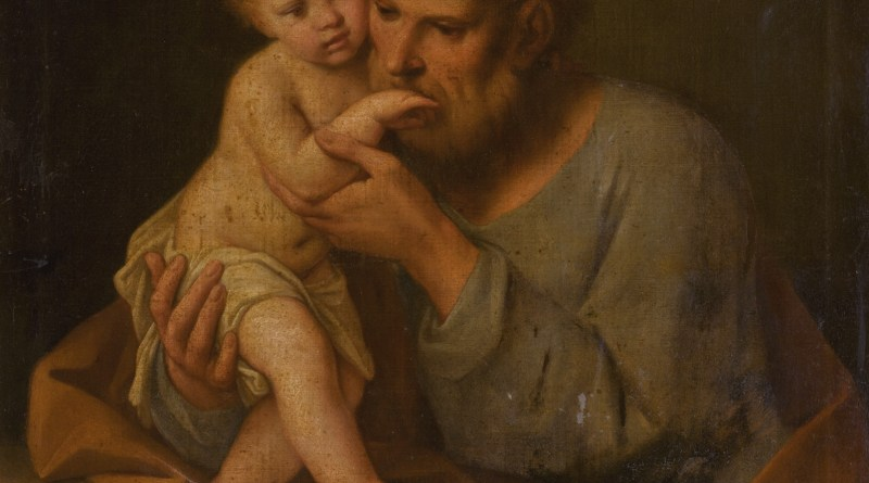 Saint Joseph with the Christ Child, by Marcantonio Franceschini, c. 1648 - 1729. Private collection.