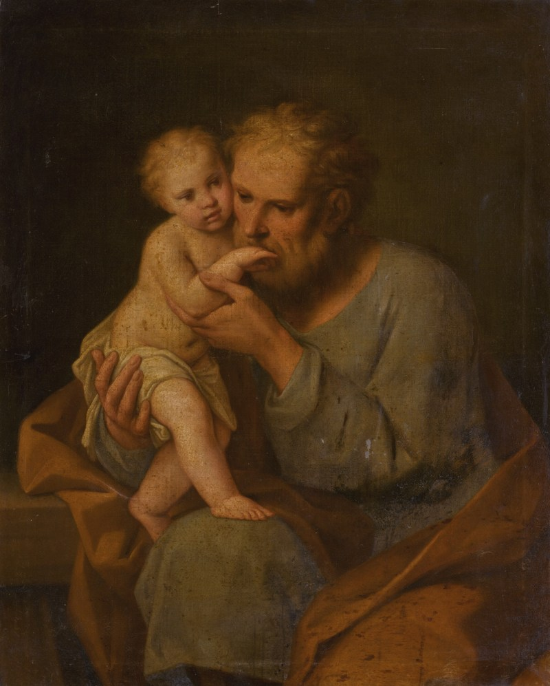 Saint Joseph with the Christ Child, by Marcantonio Franceschini, c. 1648 - 1729. Private collection.
