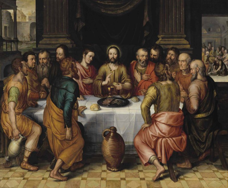 The Last Supper, by Pieter Pourbus, c. 16th century. Private collection.