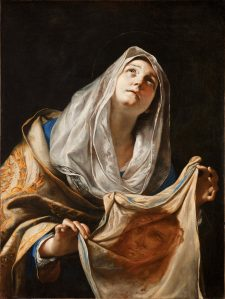 Saint Veronica with the Veil, by Mattia Preti, c. 1655-60. Los Angeles County Museum of Art, Los Angeles, California, United States.