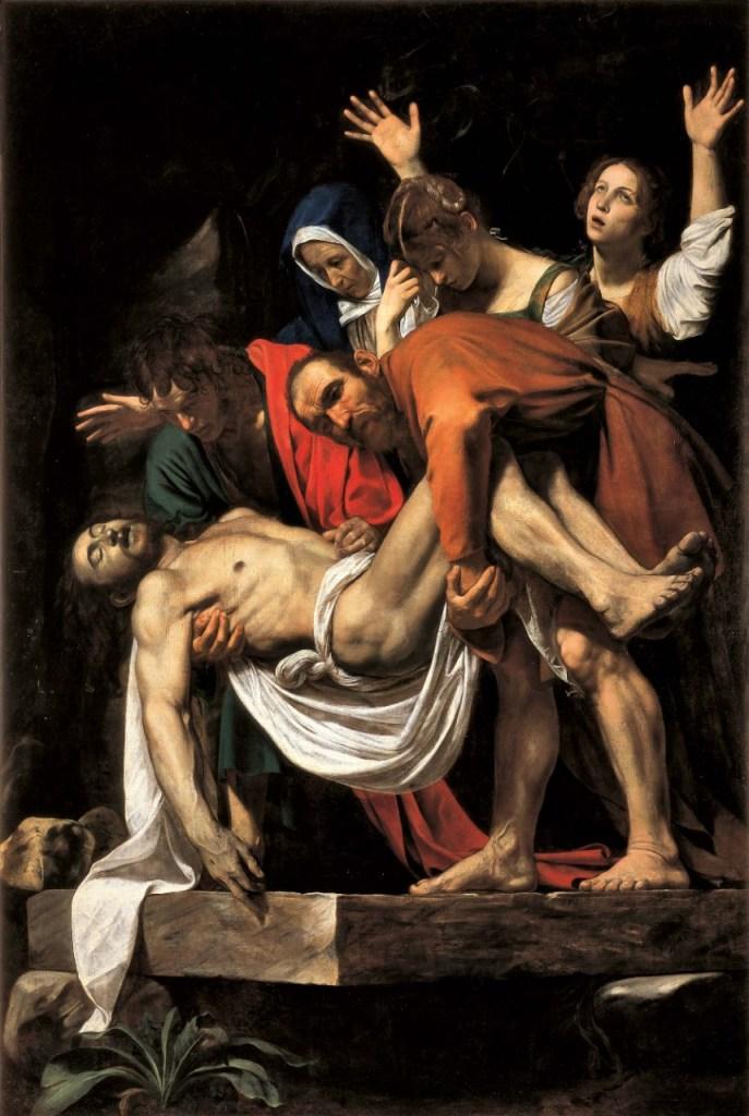 Deposition, by Caravaggio, c. 1600-04. Musei Vaticani, Vatican City.