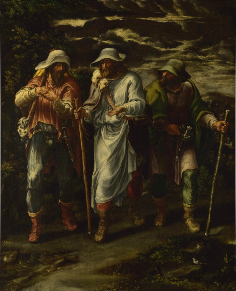 The Walk to Emmaus, by Lelio Orsi, c. 1565-75. National Gallery, London, United Kingdom.