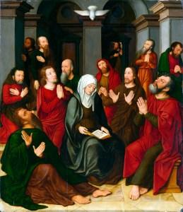 The Pentecost, by Ambrosius benson, c. 16th century. North Carolina Museum of Art, Raleigh, North Carolina, United States.