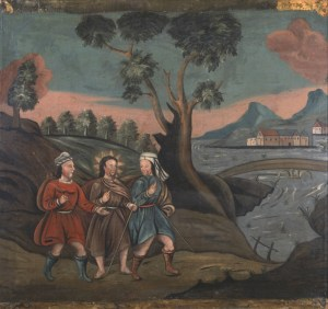 Road to Emmaus, possibly by Nehemiah Partridge, c. 1718-25. Albany Institute of History and Art, Albany, New York, United States.